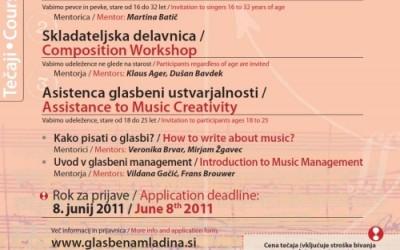 Composer's Workshop on the Glasbena mladina Music Camp 2011