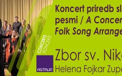 CONCERT - St. Nicholas Choir Litija : A Concert of Slovene Folk Songs Arrangements