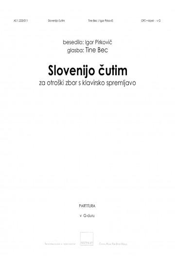 Slovenijo čutim (I Feel Slovenia) - in G