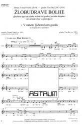 ŽLOBUDRAVE BOLHE [Chattering Fleas]  (Choral Score)