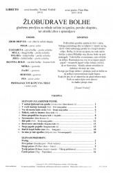 ŽLOBUDRAVE BOLHE [Chattering Fleas]  (Libretto)