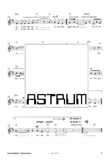 SPREMENIVA SVET [Let's Change the World] - Lead Sheet [Rhythm Guitar]
