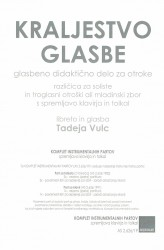 KRALJESTVO GLASBE [KINGDOM OF MUSIC]  (Instr. Parts Set)