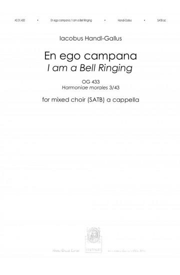 En ego campana / I am a Bell Ringing (OG 433) - SATB