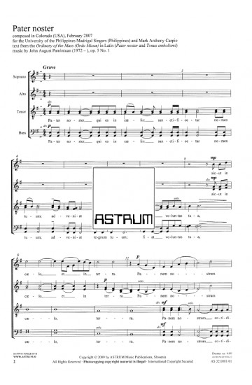 Pater noster, op. 5/1