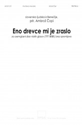 Eno drevce mi je zraslo [One Little Tree Has Grown For Me] - TTTTBBBB