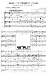 ŠTIRI LJUBEZENSKE LJUDSKE (Four Love Folk Songs) - Choral Score