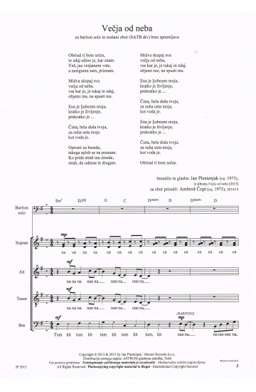 JAN PLESTENJAK - PESMI (Songs) [Collection]