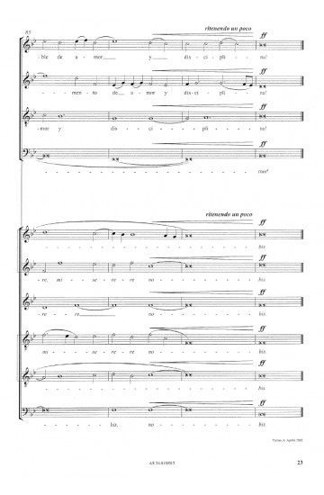 """Agnus Dei (from """"Missa Lorca"""")"""
