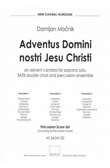 Adventus Domini nostri Iesu Christi (Percussion Score Set)