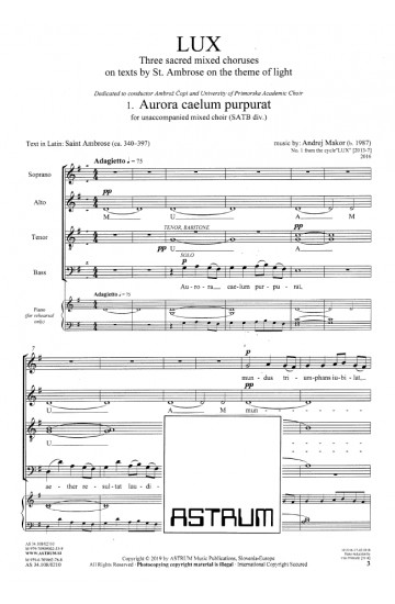 LUX (Choral Score)