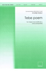 Tebe poem (SATB)
