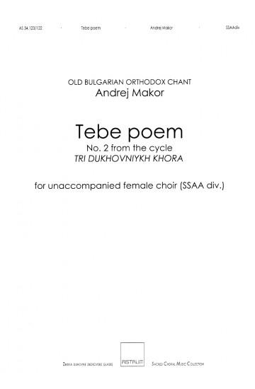 Tebe poem (SSAA)