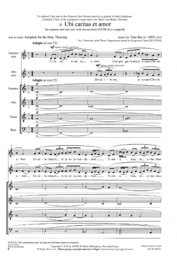 THREE COMPOSITIONS BASED ON GREGORIAN CHANT