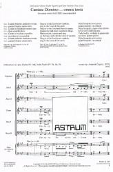 Cantate Domino ... omnis terra - SAA TBB