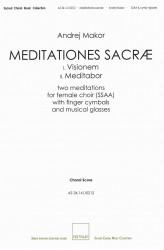 MEDITATIONES SACRÆ - SSAA - Choral Score