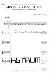MISSA PRO JUVENTUTE - Orchestra (SATB) Violin I
