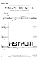 MISSA PRO JUVENTUTE - Orchestra (SATB) Clarinet I in Bb