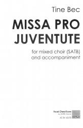 MISSA PRO JUVENTUTE (SATB) Vocal-Choral Score
