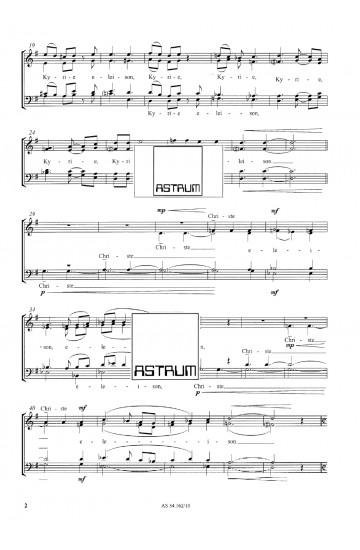 MISSA PRO JUVENTUTE (SATB) Choral Score