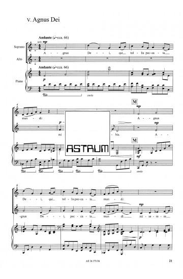 MISSA PRO JUVENTUTE (SSA) Vocal Score