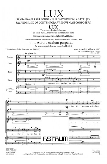 LUX - KGBL (sheet music)