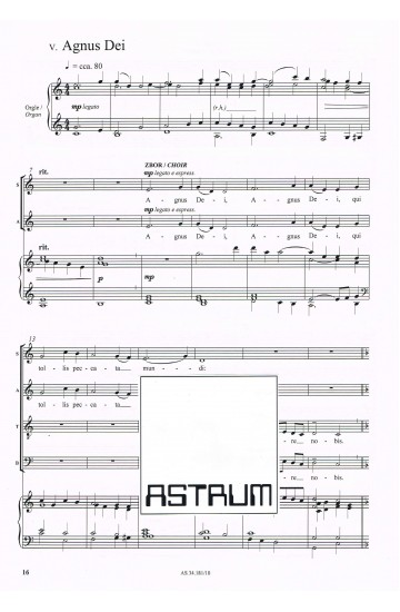 MISSA DE ANGELIS (Choral Score)