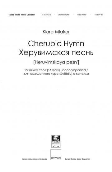 Cherubic Hymn / Херувимскaя пeснь [Heruvimskaya pesn'] - SATB div