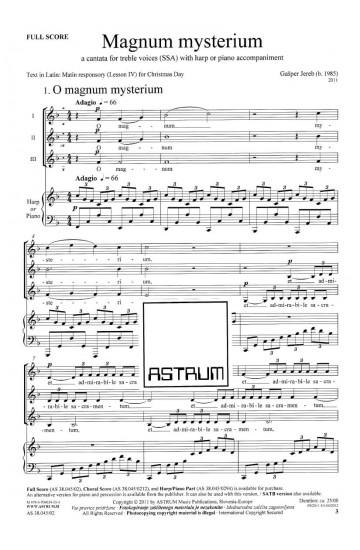 MAGNUM MYSTERIUM - Full Score (SSA)