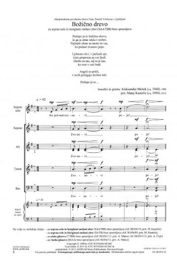 Božično drevo (Christmas Tree) - SAATBB & Soprano solo