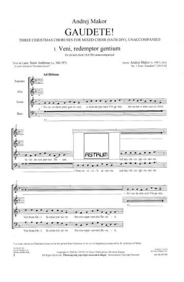 GAUDETE! - Three Christmas Choruses for Mixed Choir (SATBdiv) - Choral Score