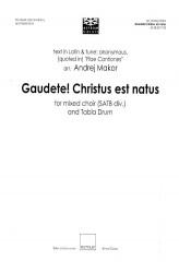 Gaudete! Christus est natus