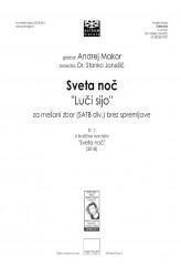 "Sveta noč ""Luči sijo"" (Holy Night ""The lights are shining"") - SATBdiv"