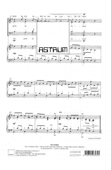 "Božičnica II ""Jaz grem na pot"" (Christmas Song II ""I'm on my way"" - SATBdiv, piano"