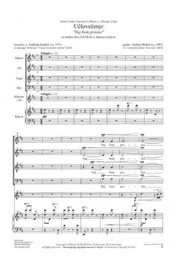 """Božično okno """"Tu ni snega"""" (Christmas Window """"No snow here"""") - tenor solo, TTBBdiv"""