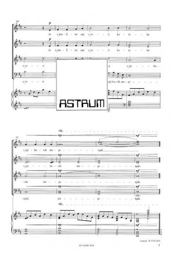"Božična noč ""Božična noč, luč repatice"" (Christmas Night ""Christmas night, light of the comet"") - SATBdiv and piano"