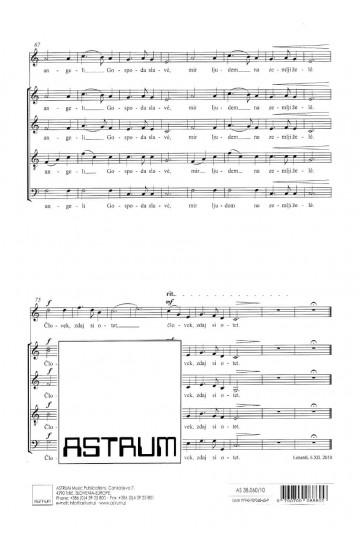 SVETA NOČ (Silent Night) a Christmas cantata - Choral Score