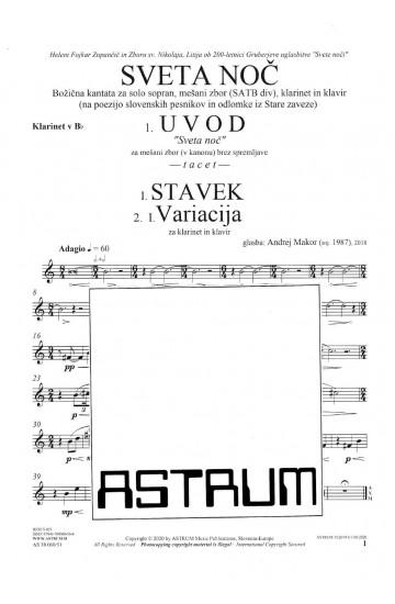SVETA NOČ [Silent Night] a Christmas cantata - Clarinet in Bb