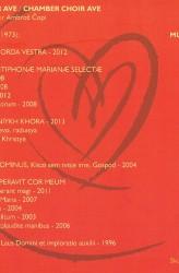 PRAEPARATE CORDA VESTRA - Komorni zbor AVE & Ambrož Čopi (CD)